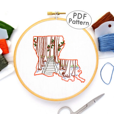 Louisiana Hand Embroidery Pattern