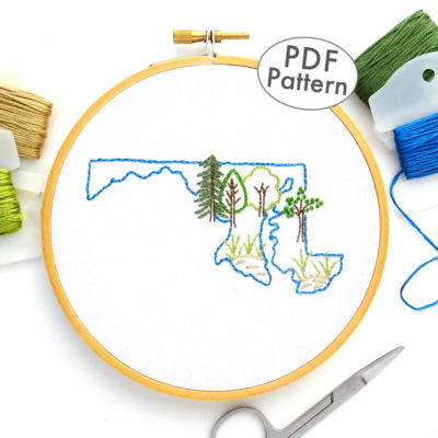 Maryland Hand Embroidery Pattern