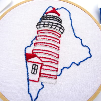 Maine Hand Embroidery Pattern