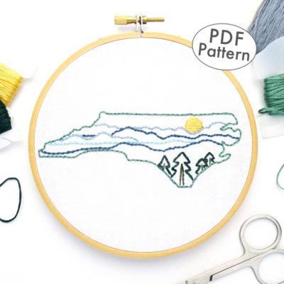 North Carolina Hand Embroidery Pattern