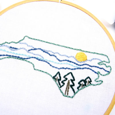 North Carolina Hand Embroidery Pattern