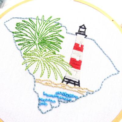 South Carolina Embroidery Pattern