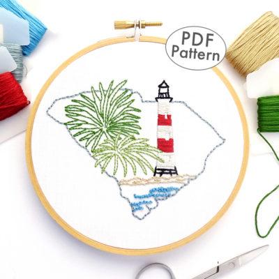 South Carolina Hand Embroidery Pattern