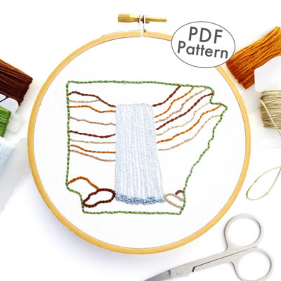 Arkansas Hand Embroidery Pattern