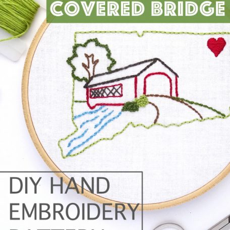 connecticut-covered-bridge-diy-hand-embroidery-pattern