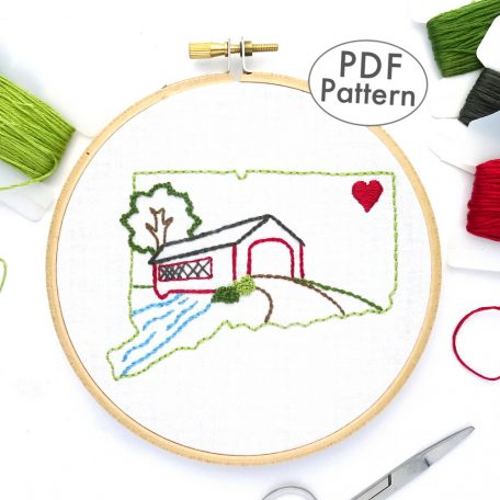 Connecticut Hand Embroidery Pattern