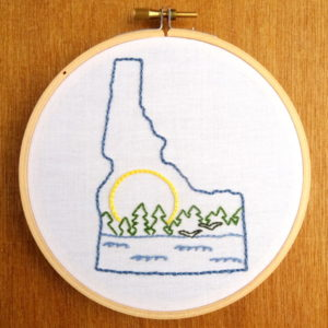 Idaho State Embroidery Pattern