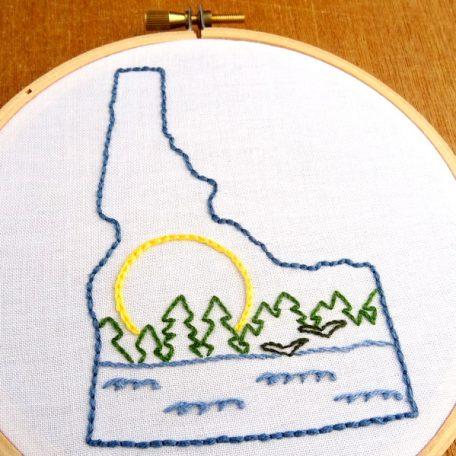 Idaho State Embroidery Pattern