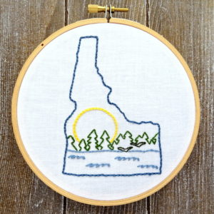 Idaho State Hand Embroidery Pattern