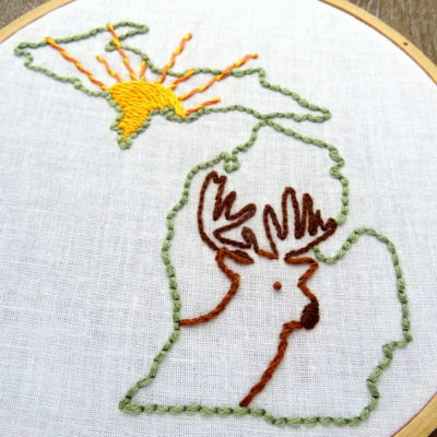Michigan State Hand Embroidery Pattern