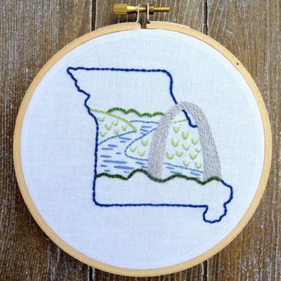 Missouri State Hand Embroidery Pattern