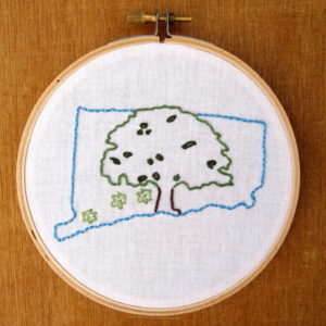 Connecticut State Embroidery Pattern
