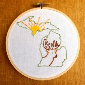 Michigan State Embroidery Pattern