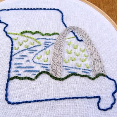 Missouri State Embroidery Pattern