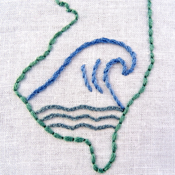 New jersey state embroidery pattern wandering threads