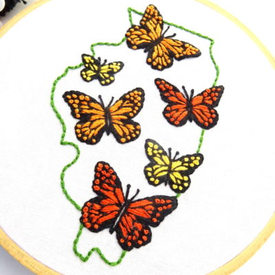 Illinois Hand Embroidery Pattern