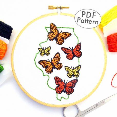 Illinois Hand Embroidery Pattern