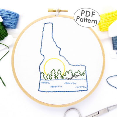 Idaho Hand Embroidery Pattern