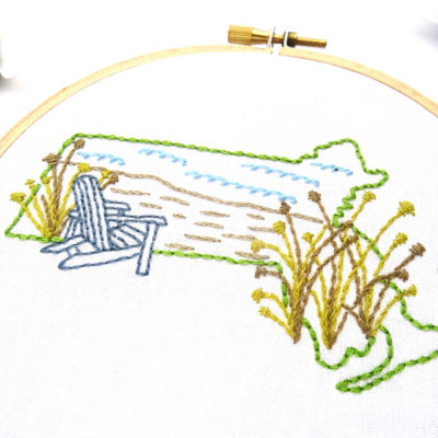 Massachusetts Hand Embroidery Pattern