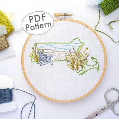 Massachusetts DIY Embroidery Pattern