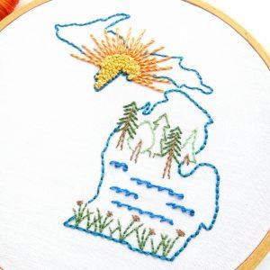 Michigan Hand Embroidery Pattern