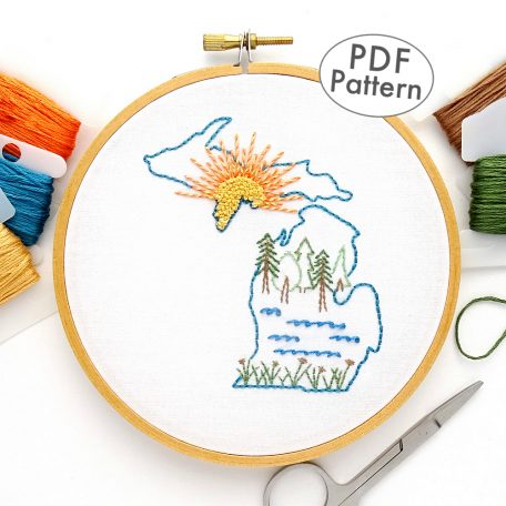 Michigan Hand Embroidery Pattern