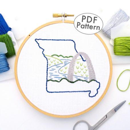 Missouri Hand Embroidery Pattern