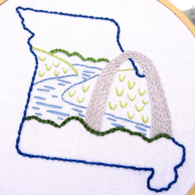 Missouri Hand Embroidery Pattern