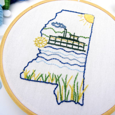Mississippi Hand Embroidery Pattern
