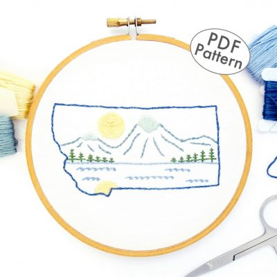 Montana Hand Embroidery Pattern