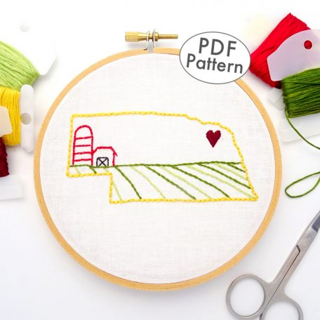 Nebraska Hand Embroidery Pattern