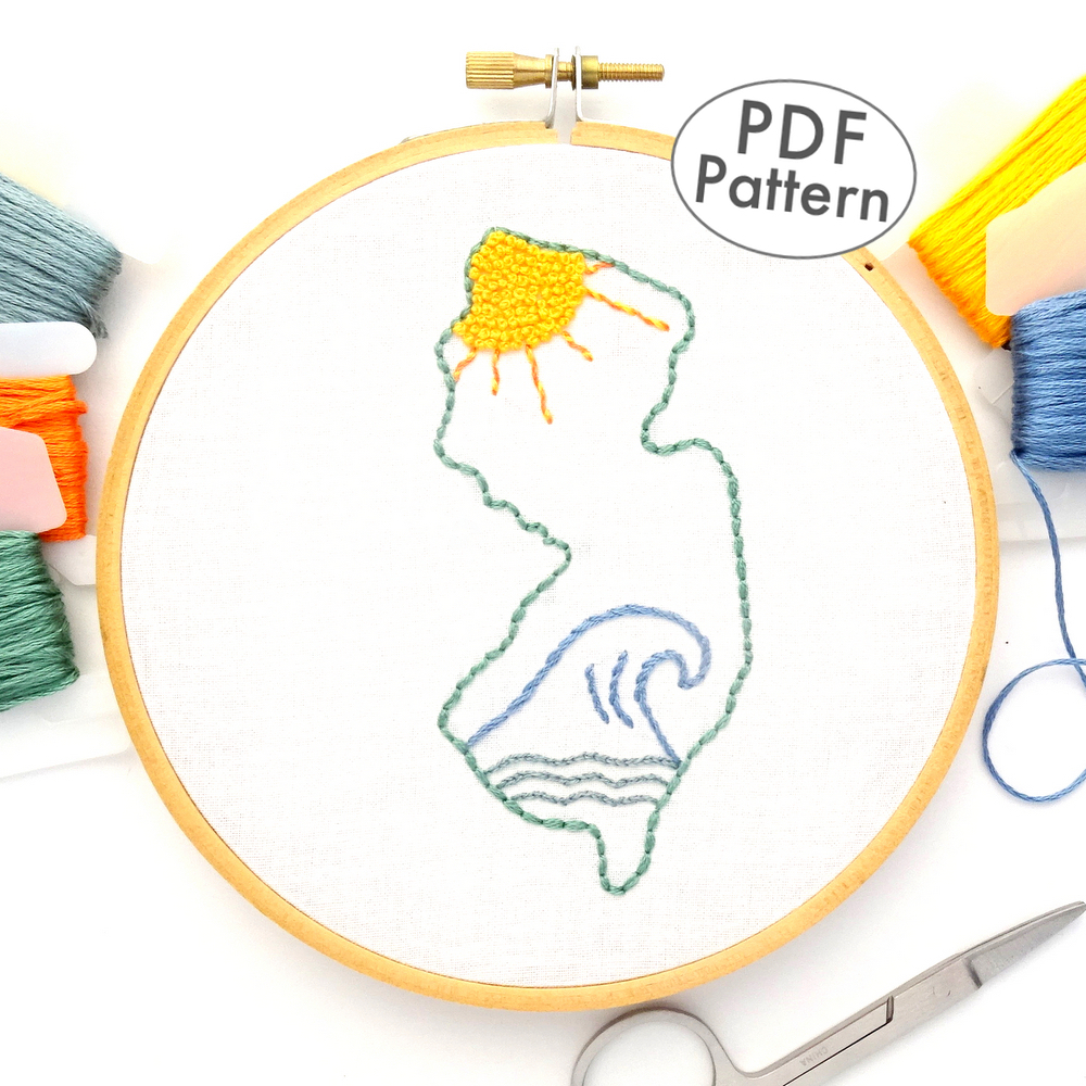 New Jersey Hand Embroidery Pattern Wandering Threads Embroidery