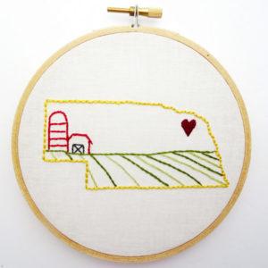 Nebraska State Embroidery Pattern