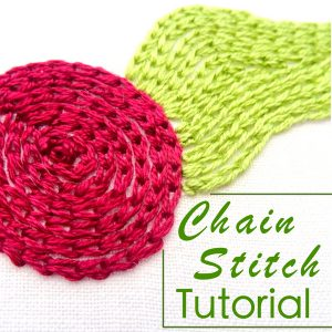Chain Stitch Tutorial ~ Wanderingthreadsembroidery.com