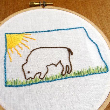 North Dakota State Embroidery Pattern