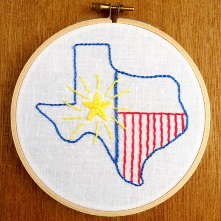 Texas State Embroidery Pattern