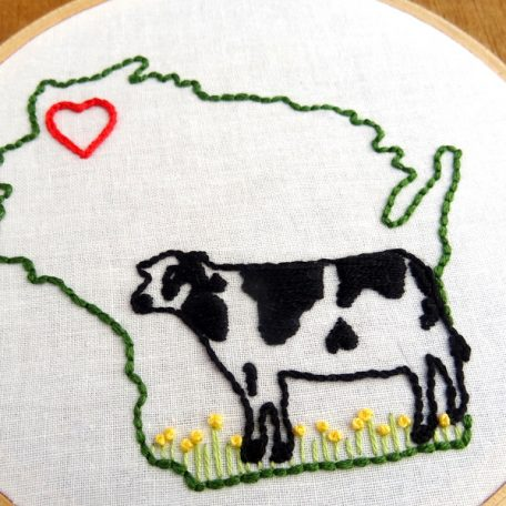 Wisconsin State Hand Embroidery Pattern