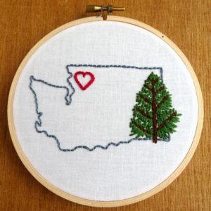 Washington State Embroidery Pattern