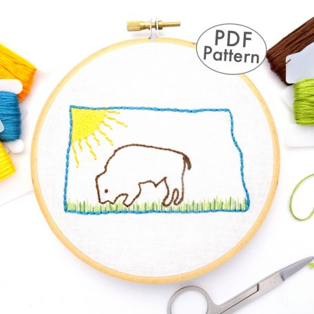 North Dakota Hand Embroidery Pattern