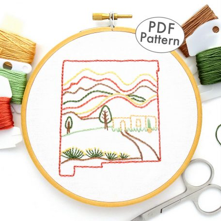 New Mexico Hand Embroidery Pattern