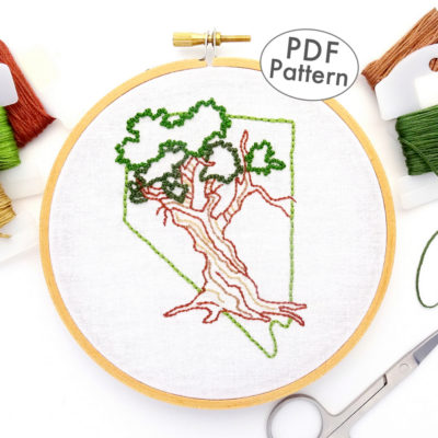 Nevada Hand Embroidery Pattern