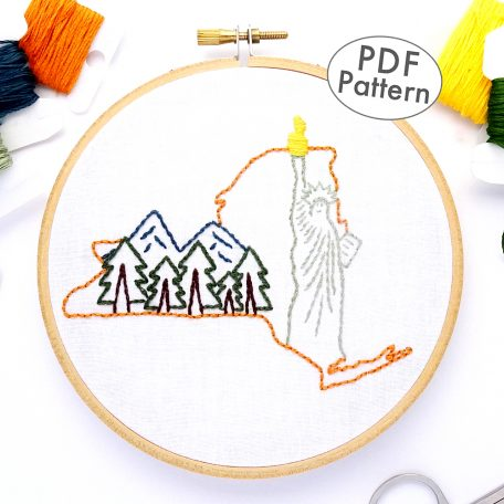 New York Hand Embroidery Pattern
