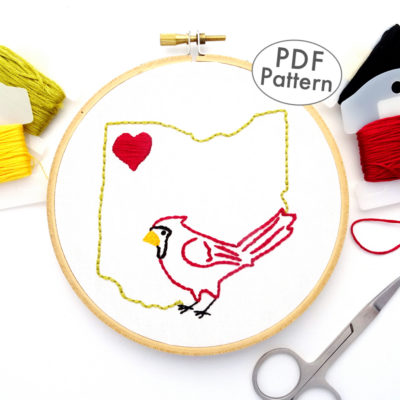 Ohio Hand Embroidery Pattern