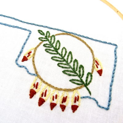 Oklahoma Shield Hand Embroidery Pattern