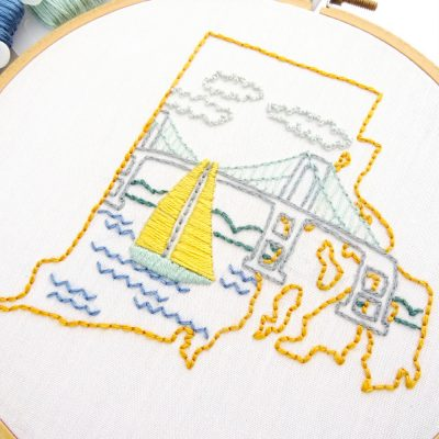Rhode Island Hand Embroidery Pattern