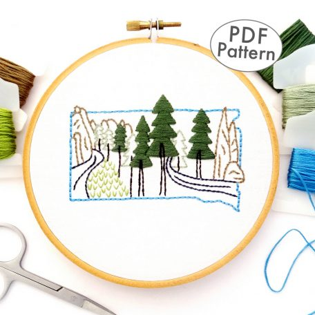 South Dakota Hand Embroidery Pattern