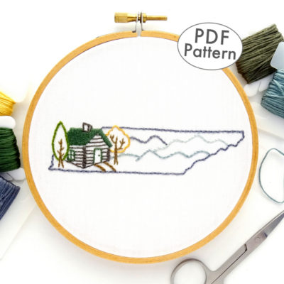 Tennessee Hand Embroidery Pattern