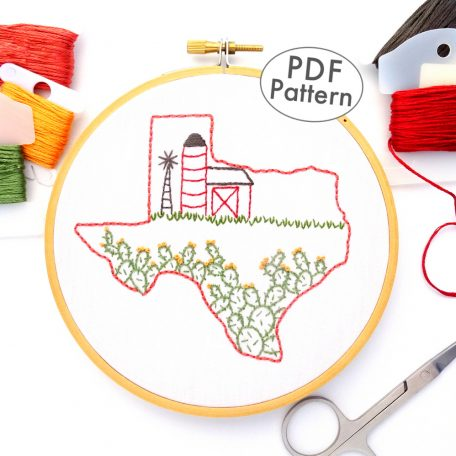 Texas Hand Embroidery Pattern