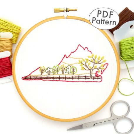 Virginia Hand Embroidery Pattern