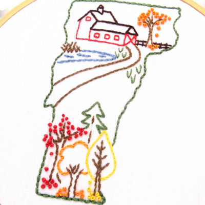 Vermont Hand Embroidery Pattern